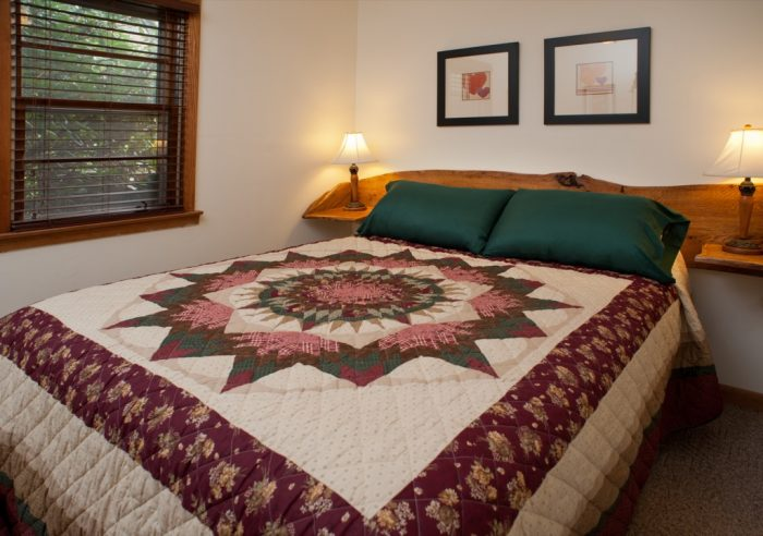 Queen size bed and one piece head board